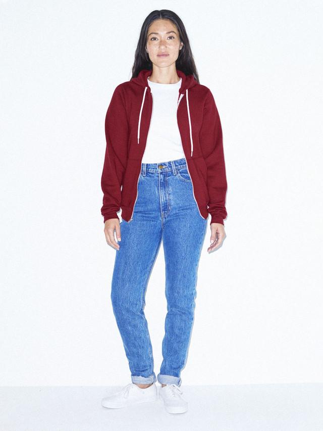Unisex Flex Fleece Zip Hoodie  (Cranberry)