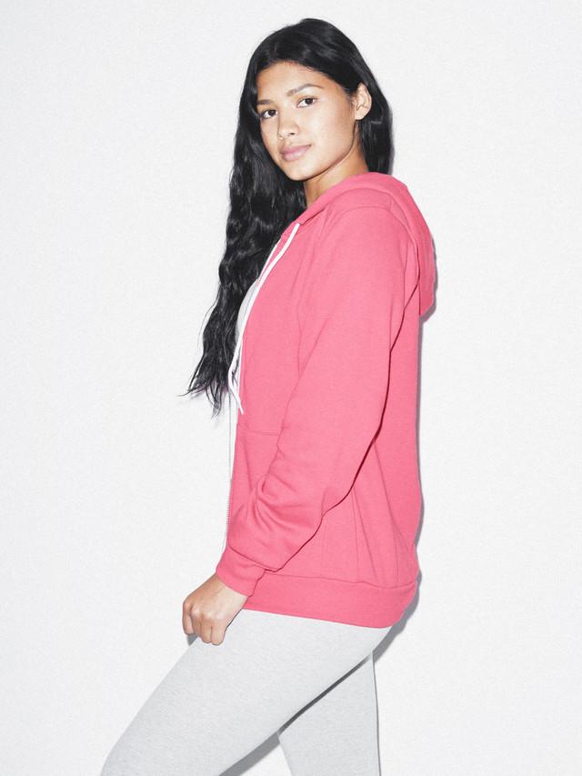 Unisex Flex Fleece Zip Hoodie  (Deep Pink)