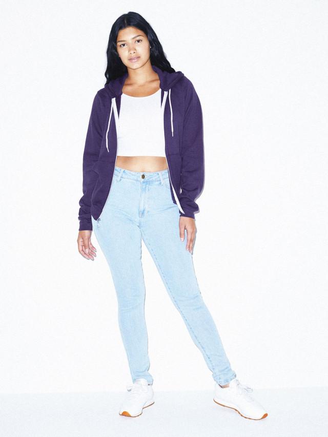 Unisex Flex Fleece Zip Hoodie  (Imperial Purple)