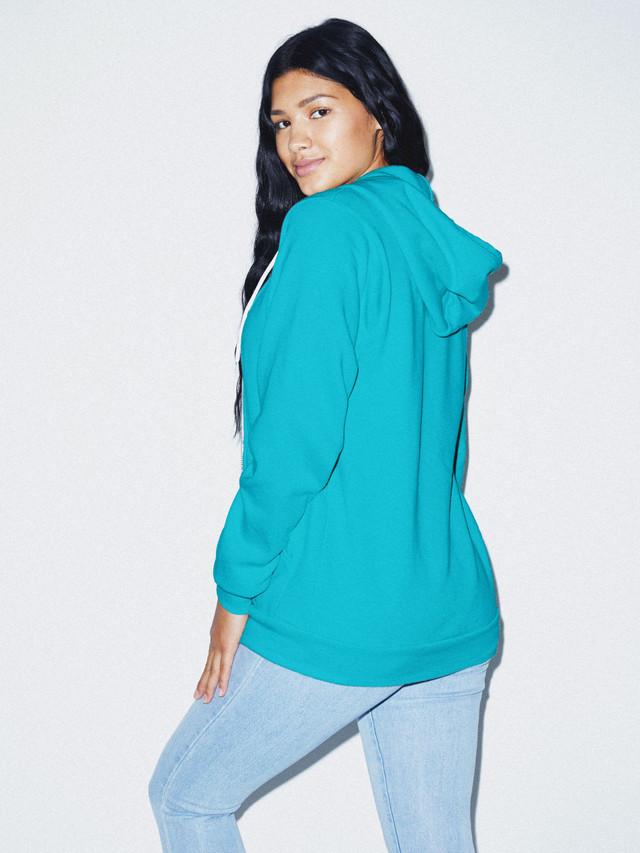 Unisex Flex Fleece Zip Hoodie  (Mermaid Green)