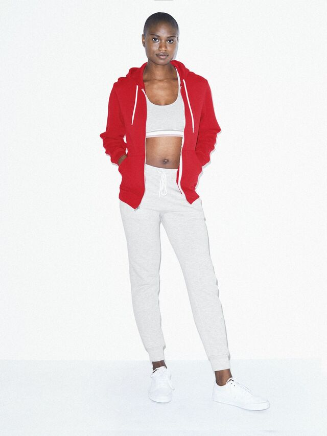 Unisex Flex Fleece Zip Hoodie  (Red)