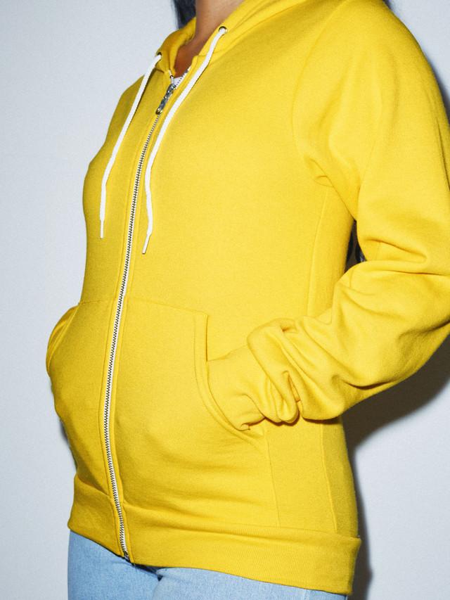 Unisex Flex Fleece Zip Hoodie  (Sunshine)