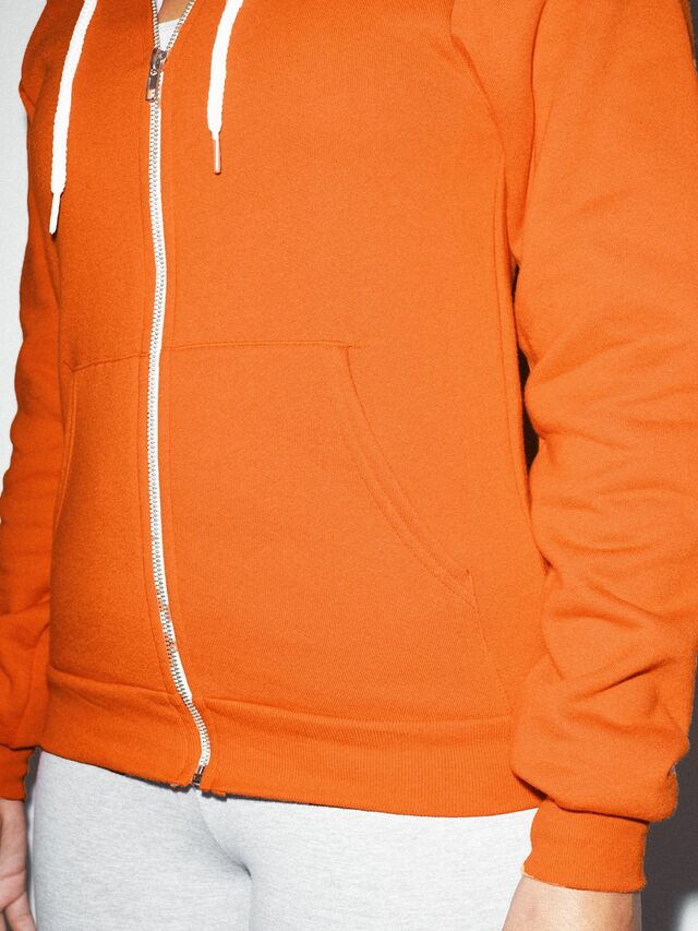 Unisex Flex Fleece Zip Hoodie  (Tang)