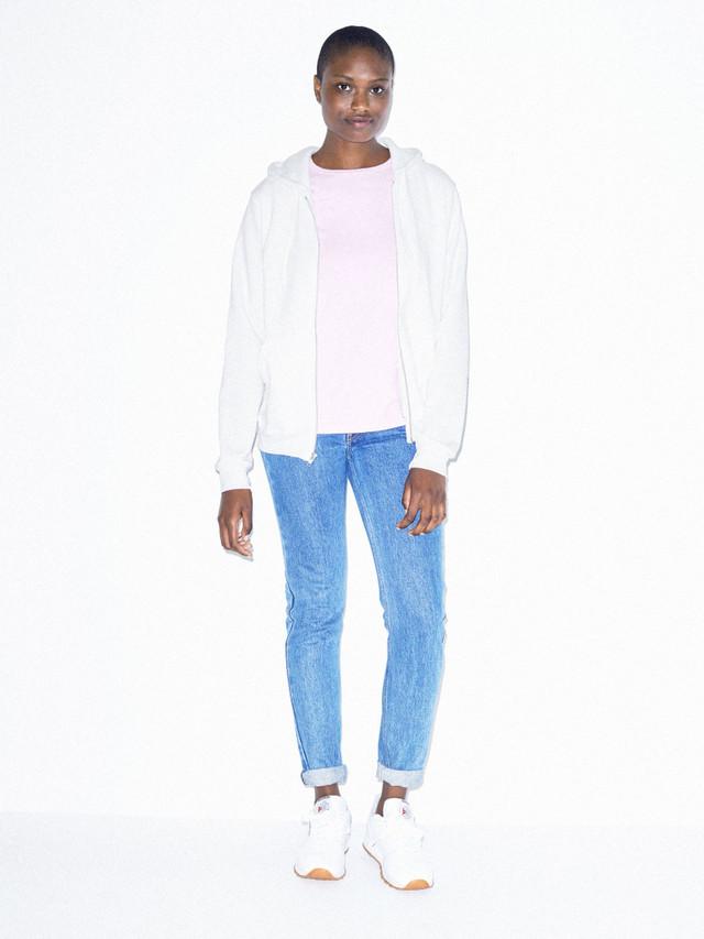 Unisex Flex Fleece Zip Hoodie  (White)