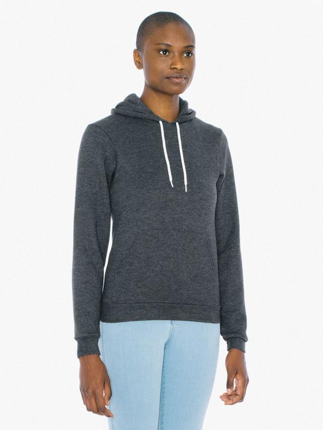 Unisex Flex Fleece Pullover Hoodie (Dark Heather Grey)