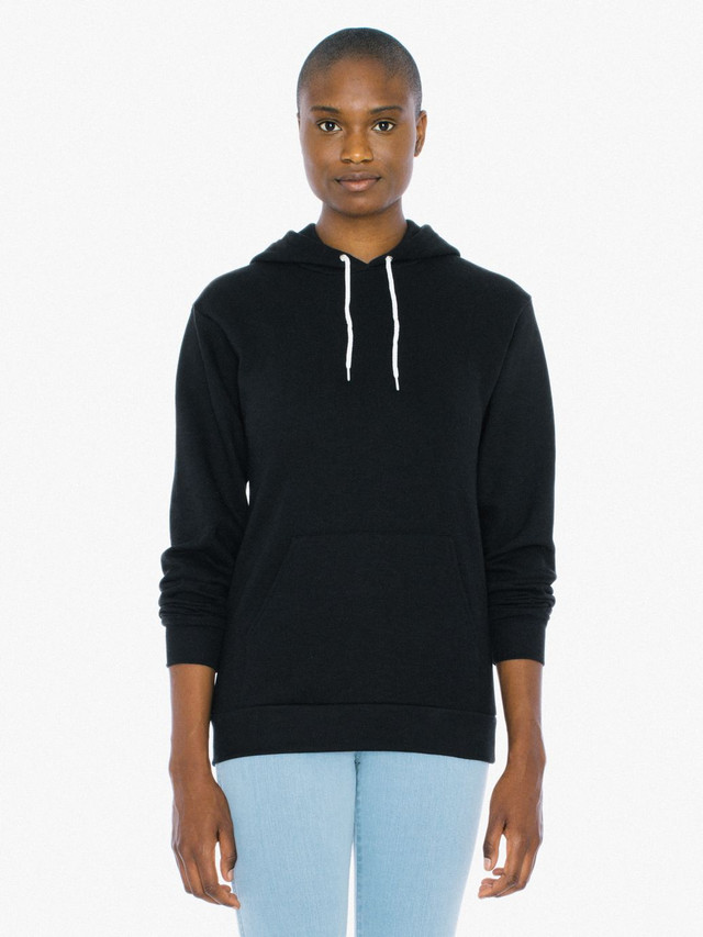 Unisex Flex Fleece Pullover Hoodie (Black)