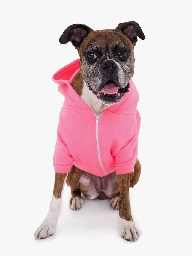 Flex Fleece Dog Zip Hoodie (Deep Pink)