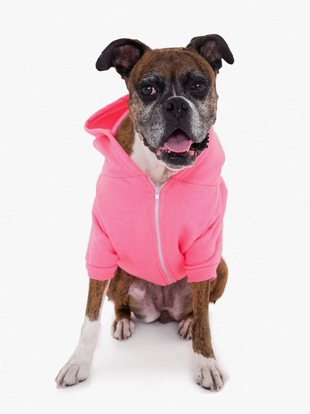 Flex Fleece Dog Zip Hoodie (Deep Pink)