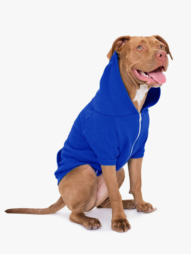 Flex Fleece Dog Zip Hoodie (Lapis)