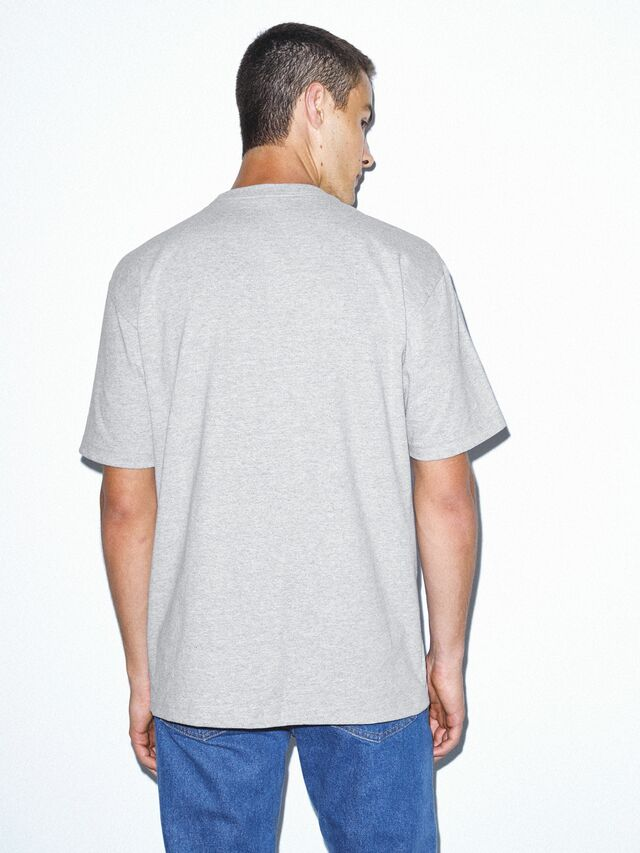 Heavy Jersey Box T-Shirt (Heather Grey)
