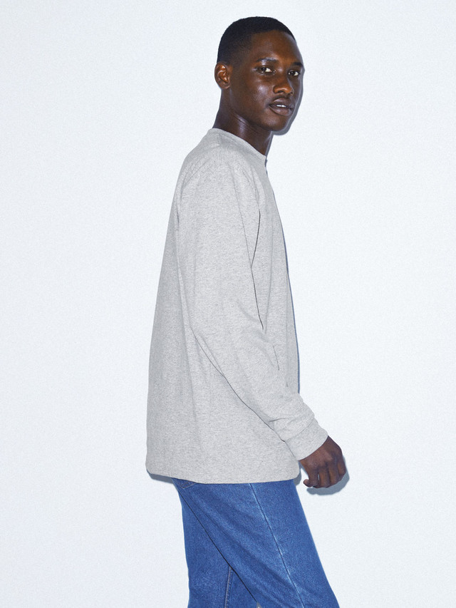 Heavy Jersey Long Sleeve Box T-Shirt (Heather Grey)