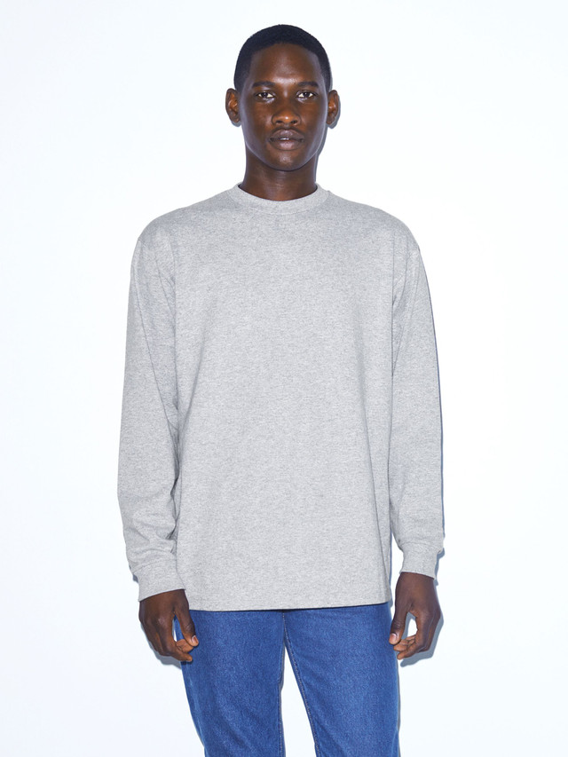 Heavy Jersey Long Sleeve Box T-Shirt (Heather Grey)
