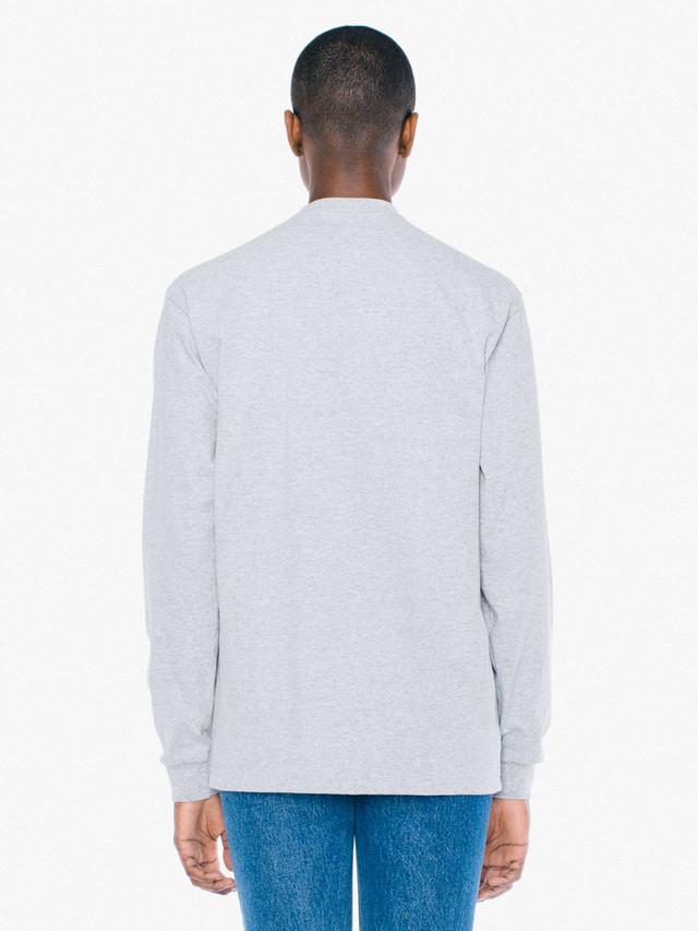 Unisex Heavy Jersey Long Sleeve Box T-Shirt (Heather Grey)