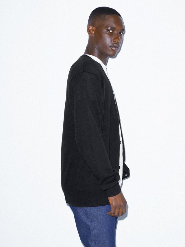Basic Knit Cardigan (Black)