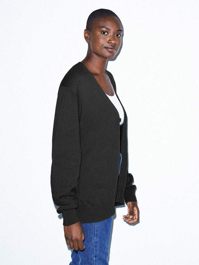 Unisex Basic Knit Cardigan (Black)