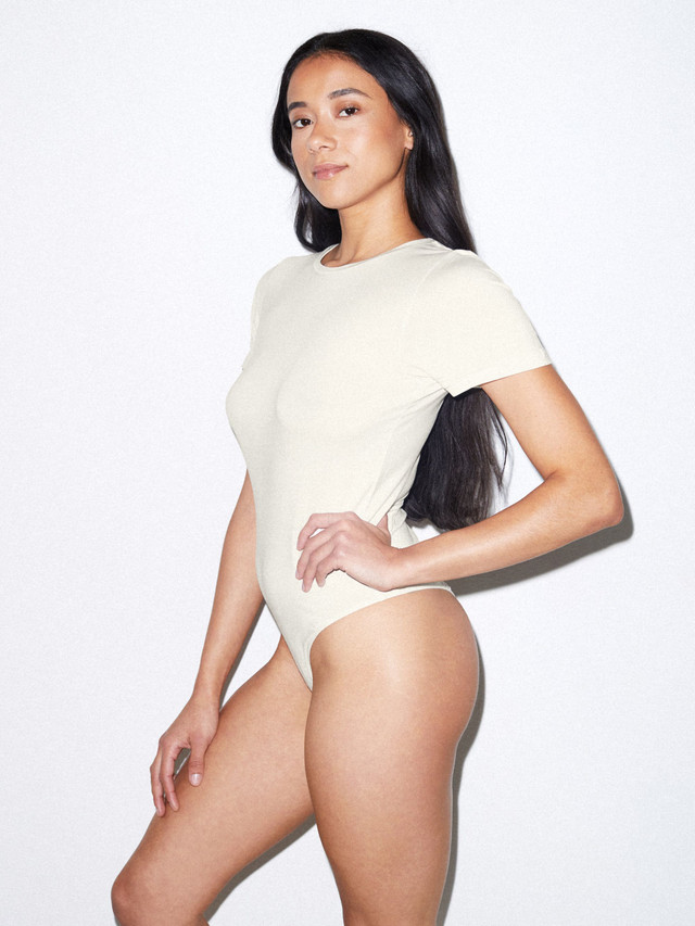 Mix Modal T-Shirt Bodysuit (Star White)