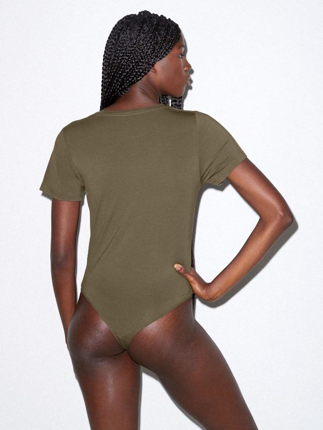 Mix Modal T-Shirt Bodysuit (Army)
