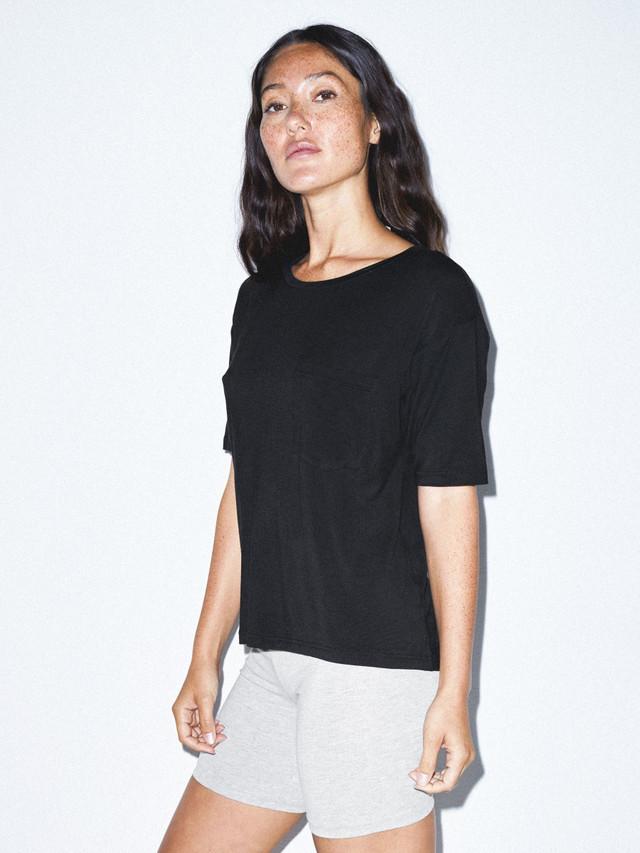 Mix Modal Pocket T-Shirt (Black)