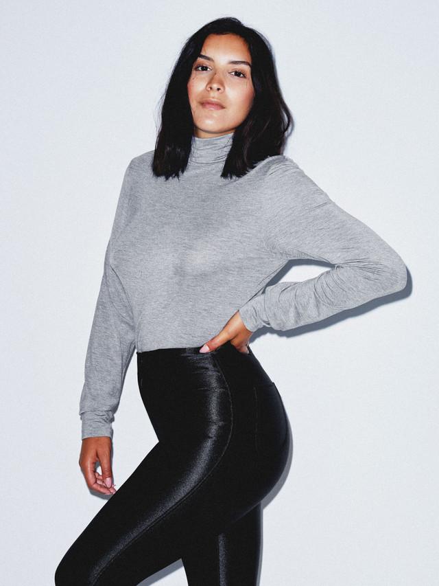 Mix Modal Long Sleeve Turtleneck (Heather Charcoal)