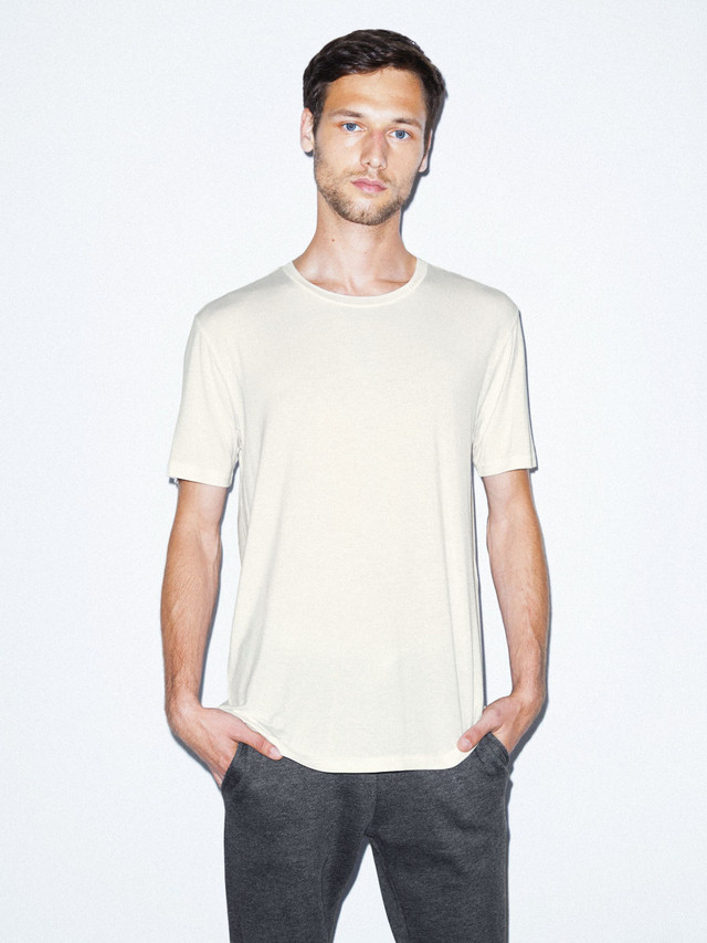 Mix Modal Short Sleeve T-Shirt (Star White)