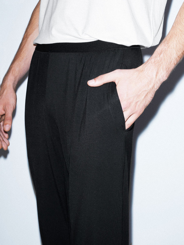 Mix Modal Lounge Pant (Black)