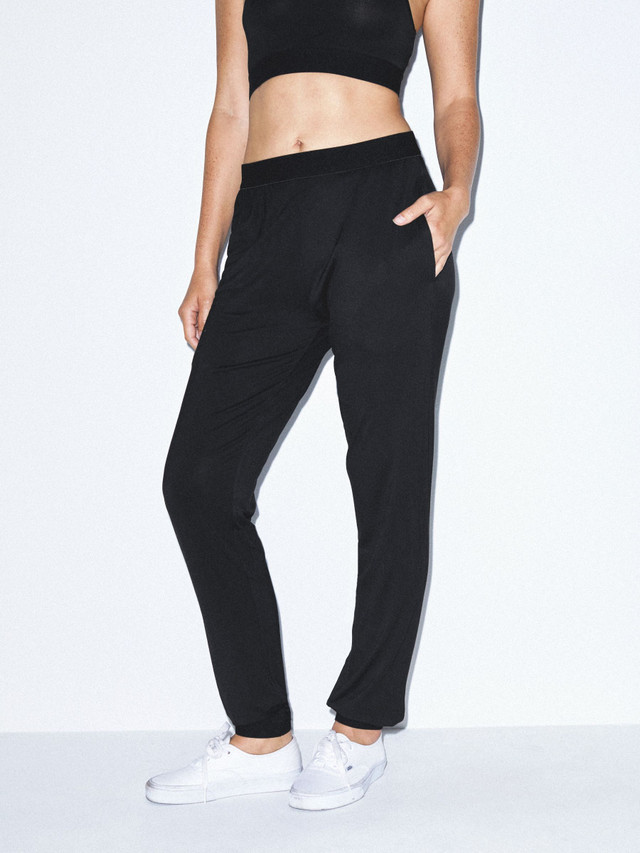 Unisex Mix Modal Lounge Pant (Black)
