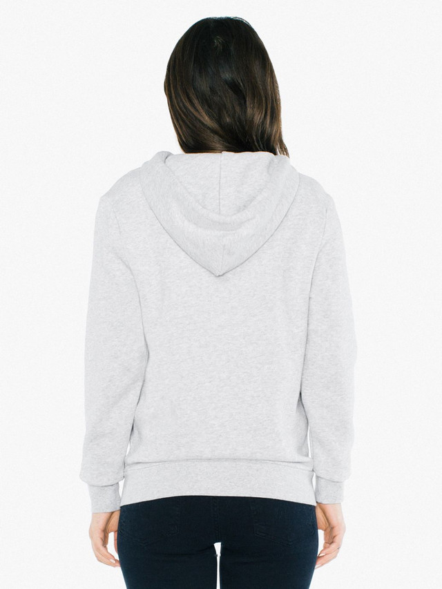 Unisex Peppered Fleece Zip Hoodie (Dark Ash)