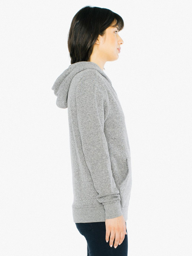 Unisex Peppered Fleece Zip Hoodie (Peppered Grey)