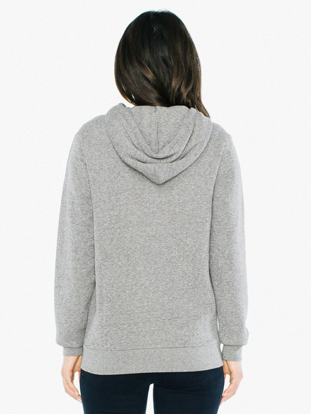 Unisex Peppered Fleece Zip Hoodie (Peppered Grey)