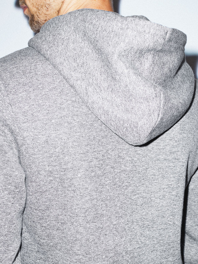 Peppered Fleece Pullover Hoodie (Peppered Grey)