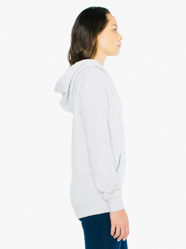 Unisex Peppered Fleece Pullover Hoodie (Dark Ash)