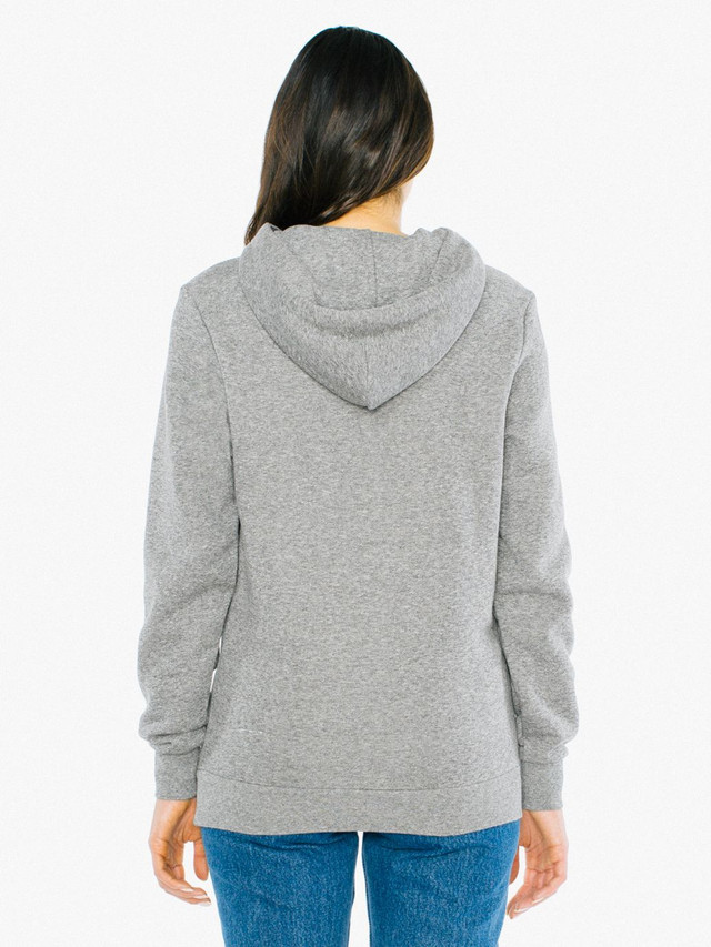 Unisex Peppered Fleece Pullover Hoodie (Peppered Grey)