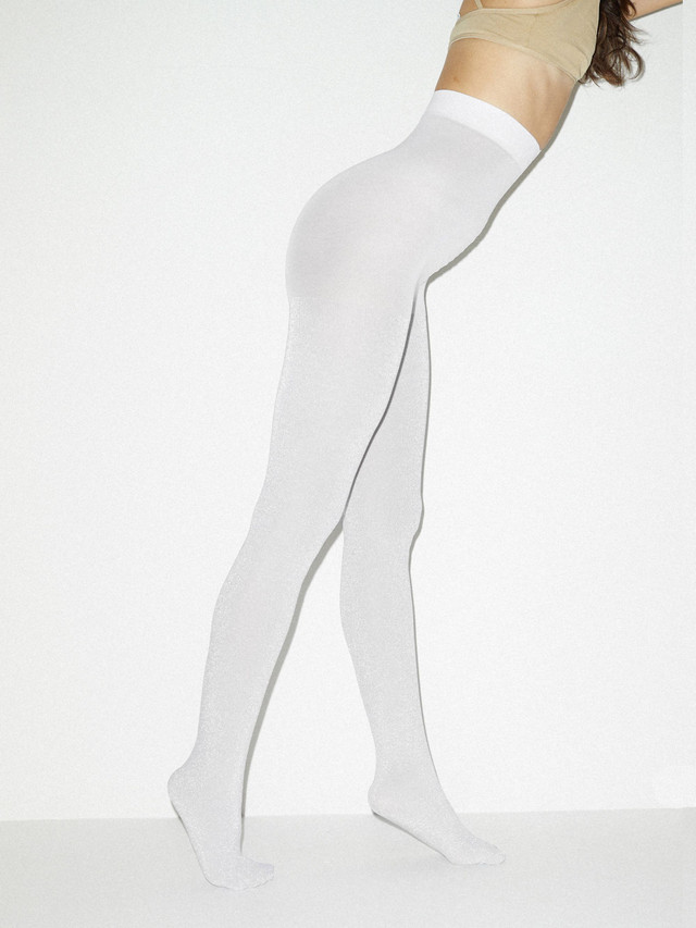 Metallic Pantyhose (White/Silver)