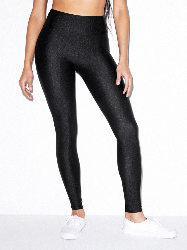 Nylon Tricot High Waist Legging (Black)