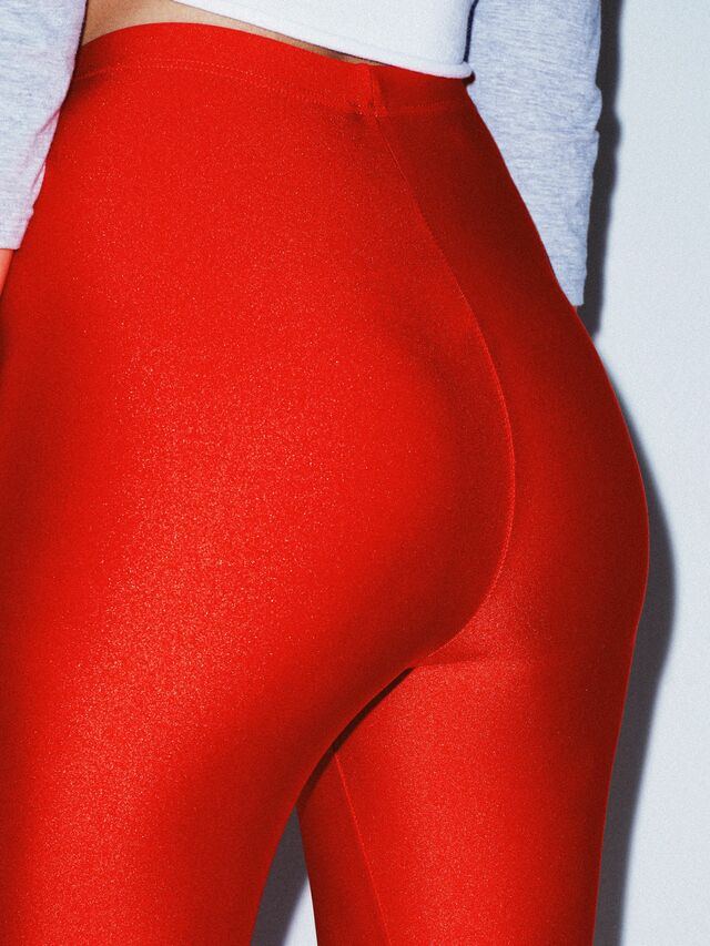 Nylon Tricot Leggings (Poppy)