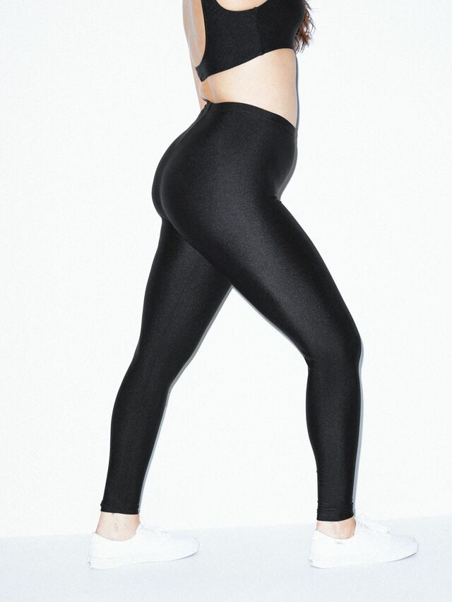 Nylon Tricot Leggings (Black)