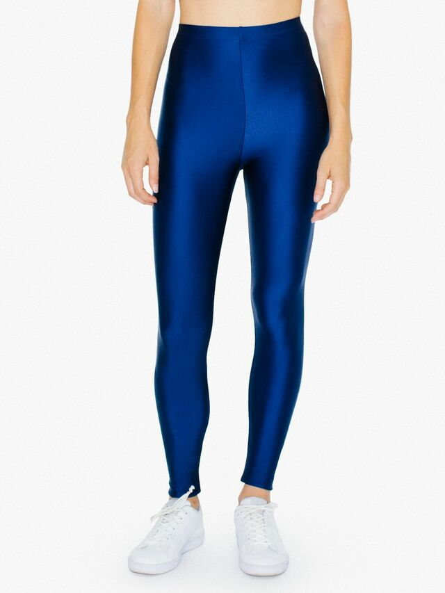 Nylon Tricot Leggings (Cobalt)