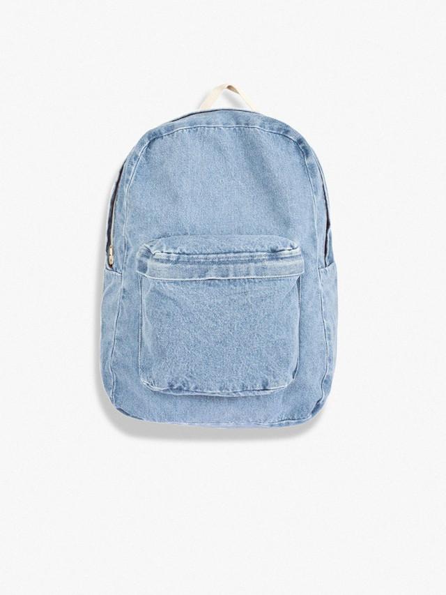 Cotton Canvas School Bag (Light Wash)