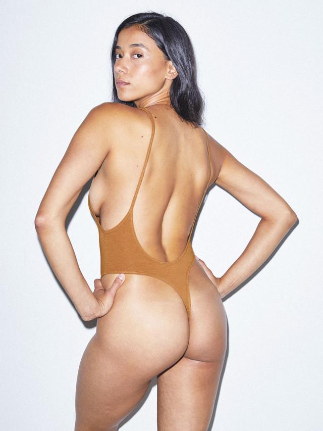 Cotton Spandex Deep Cut Bodysuit (Nude 5)