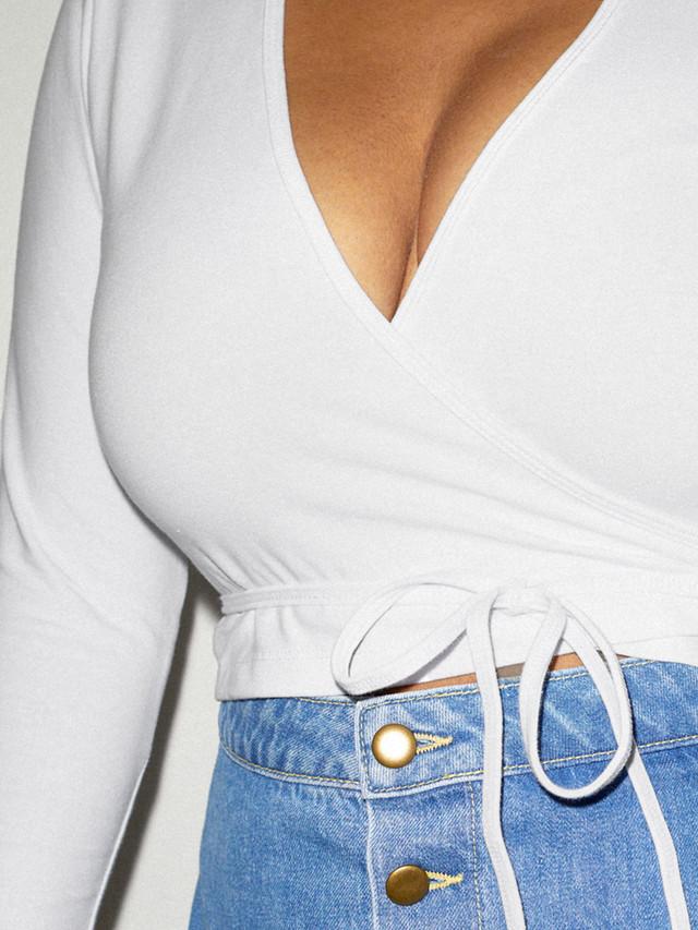 Cotton Spandex Julliard Top (White)