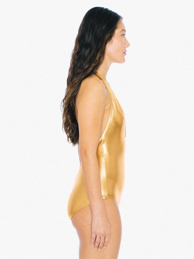 Metallic Halter Sunsuit (Gold)