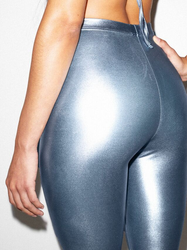 Metallic Legging (Blue Ice)