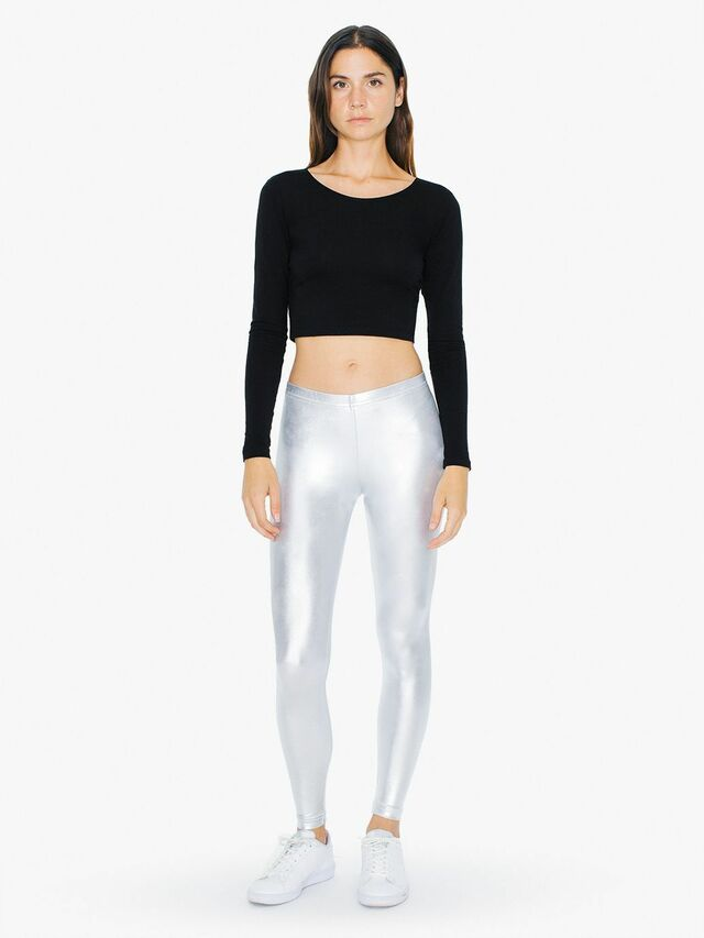 Metallic Legging (Silver)