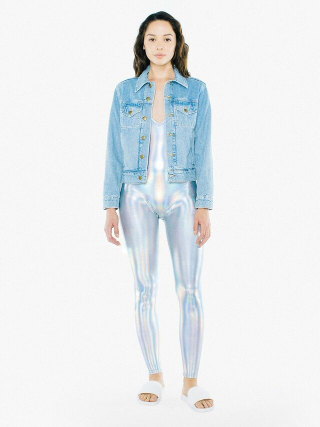 Metallic Halter Catsuit (Irridescent)