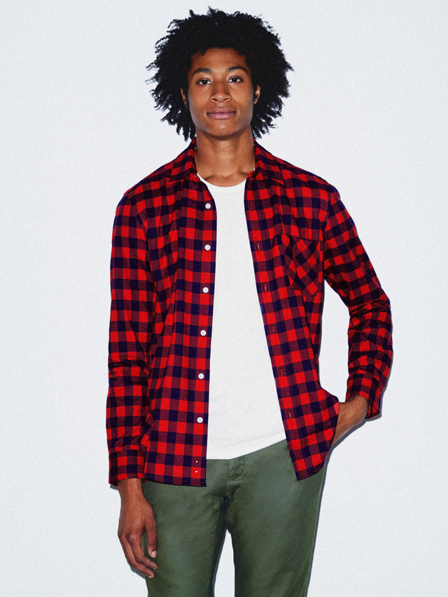 Flannel Lumberjack Shirt (Red/Navy Check)