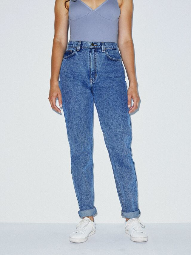 High-Waist Jean (Medium Marble Wash)