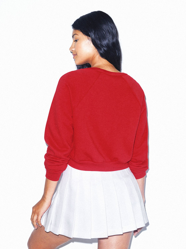 Flex Fleece Raglan Cropped Sweatshirt (Red)