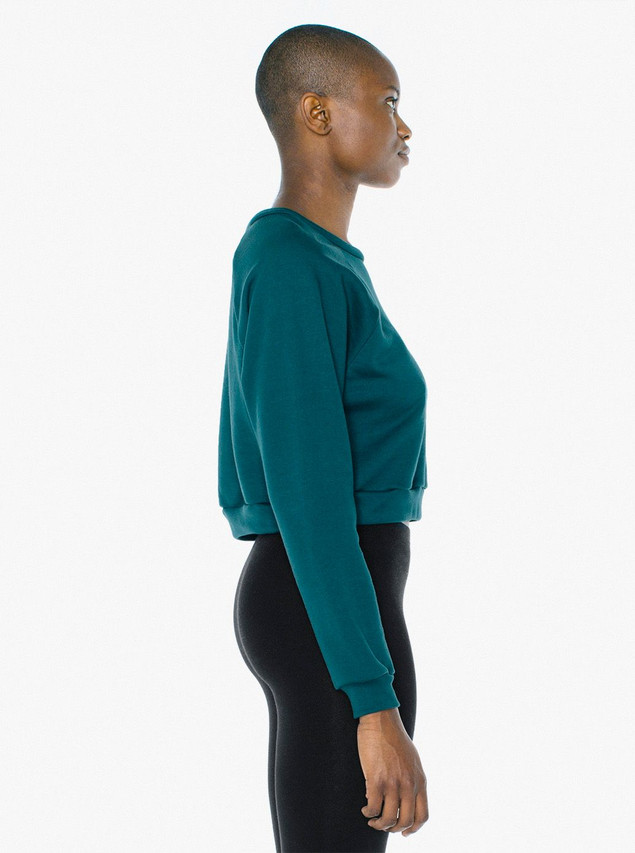 Flex Fleece Raglan Cropped Sweatshirt (Forest)