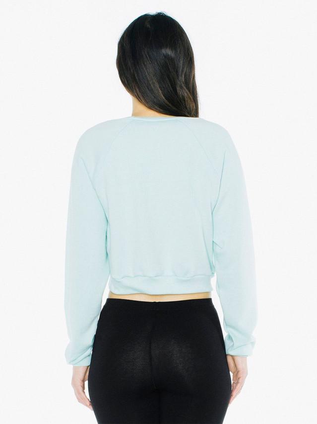 Flex Fleece Raglan Cropped Sweatshirt (Menthe)