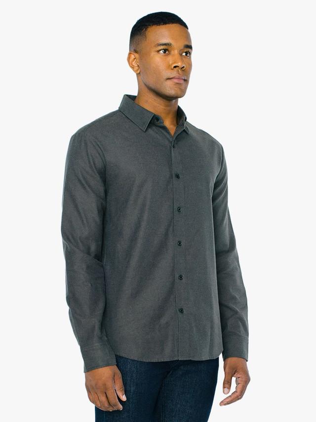 Flannel Classic Shirt (Charcoal)